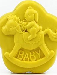 Trojan Rabbit Baby Shaped Fondant Cake Chocolate Silicone Mold Cake Decoration Tools,L8.6cm*W8.6cm*H3.1cm