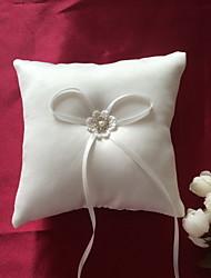 preiswerte -Material Perlenstickerei Print Baumwolle Satin Ring Kissen Urlaub Klassisch Hochzeit Frühjahr, Herbst, Winter, Sommer Ganzjährig