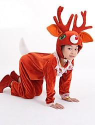 Dyremønster Julemands Dragt Cosplay Kostumer Festkostume Barn Halloween Jul Karneval Barnets Dag Festival/Højtider Halloween Kostumer