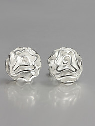 cheap -New Beautiful Rose Sterling Silver Stud Earrings Wedding Party For Lady&Woman