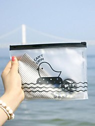 cheap -Chicken Pattern Translucent Plastic Zip Bag
