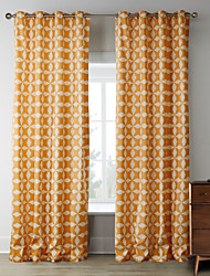 cheap -Rod Pocket Grommet Top Tab Top Double Pleat Two Panels Curtain Designer, Print Bedroom Polyester Material Home Decoration