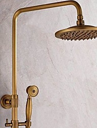 cheap -Shower Faucet - Traditional Antique Brass Shower System Ceramic Valve