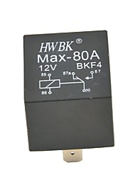 cheap -Auto Car Plastic 5 Pins 80A AMP 12V Alarm Relay-Black(12V)