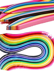 400PCS 3MMx53CM Quilling Paper(40 Color x10 PCS/Color) DIY Craft Art Decoration