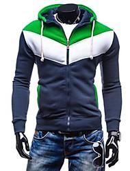 povoljno -Muškarci Veći konfekcijski brojevi hoodie jakna Color block