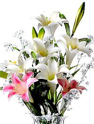 billige -Kunstige blomster 1 Afdeling Moderne Stil Liljer Bordblomst