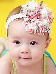 cheap -Girls' Hair Accessories, All Seasons Chiffon Lace Headbands - Pink