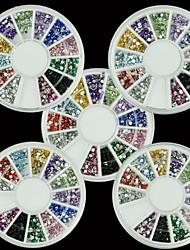 preiswerte -5x1800pcs Nail Art Strass Glitzer runden Mix 12 Farb 1.5mm Nail Art deco glänzt Edelsteine