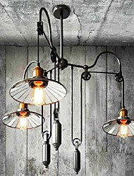 cheap -Chandelier ,  Vintage Country Painting Feature for Mini Style MetalLiving Room Bedroom Dining Room Study Room/Office Kids Room Game Room