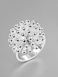 """cheap -Fashion Luxury """"Fireworks"""" Square Sterling Silver Band Ring For Women"""