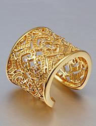 abordables -Anillos Cristal Plata de ley Oro Zirconio Borla Moda Dorado Dorado/Rosado Joyas Boda Fiesta Diario Casual 1 pieza