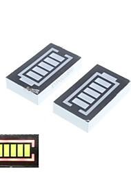 5 segmento bateria display digital vermelho e verde (2pcs)