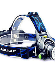 cheap -TD286 Headlamps Headlight LED 800 lm Mode Cree T6 with Batteries and Charger Zoomable Adjustable Focus Rechargeable Waterproof