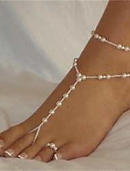 Women's Anklet/Bracelet Pearl Fashion Bikini Sexy Costume Jewelry Ball Jewelry For Beach Bikini