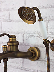 cheap -Shower Faucet - Antique Antique Brass Tub And Shower Ceramic Valve