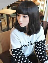 abordables -Mujer Pelucas sintéticas Ondulado Medio Kinky rizado Marino Rizado Ondulado Ondulado Natural Ondulado Amplio Ondulado Grande Negro Marrón