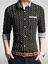 povoljno -Majica Muškarci-Chic & Moderna Dnevno Jednobojni Formalno Style Print