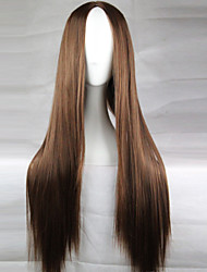 cheap -Synthetic Wig Middle Part Brown Women's Natural Wigs Cosplay Wig Long