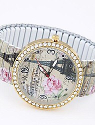 cheap -Women's Bracelet Watch Fashion Watch Casual Watch Quartz Casual Watch Alloy Band Eiffel Tower Multi-Colored
