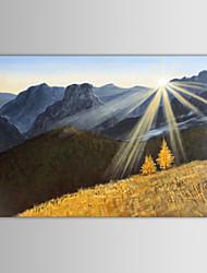 iarts pintura a óleo da paisagem da montanha do nascer do sol mão telas pintadas modernos, com quadro esticado