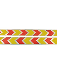 abordables -auto del coche de seguridad modelo reflexivo de las etiquetas engomadas (2 unidades) de color amarillo& rojo
