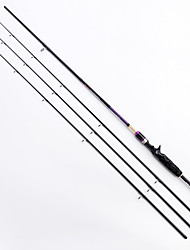LEITING® 2.1m Lure Rod High Quality Carbon Casting Fishing Rod (M,ML,MH), 1Rod + 3 end sections M+MH+ML included
