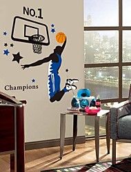 cheap -Environmental Basketball Player PVC Wall Sticker