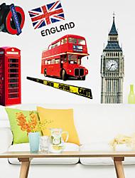 Недорогие -окружающей среды съемный DIY части Лондона наклейки стены PVC