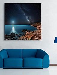 e-Home® allungata guidata arte canvas stampa riva dell'effetto notte il flash led lampeggiante stampa fibra ottica