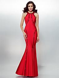 Eng anliegend Schmuck Boden-Länge Jersey Formeller Abend Gala Kleid mit Pailletten durch TS Couture®