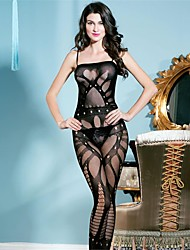 cheap -Women Lace Lingerie Ultra Sexy Nightwear Spandex Nylon Black