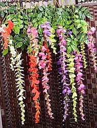 baratos -Ramo Seda Plástico Violeta Flor de Mesa Flores artificiais
