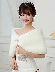 Wedding  Wraps Fur Wraps Shrugs Sleeveless Faux Fur Wedding Party/Evening