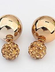 povoljno -Žene Vintage Slatko Zabava Posao Ležerne prilike Moda Europska Umjetno drago kamenje Legura Circle Shape Geometric Shape Jewelry Zlato