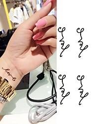 cheap -Love Symbol Personality Letters Tattoo Stickers Temporary Tattoos(1 pc)
