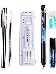 Schreibsets für Prüfungen (Lineal, Gel-Kugelschreiber, Bleistift, Radiergummi, Patrone)
