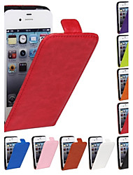 Genuine Crazy Horse PU Leather Slim Light Flip Case Cover for iPhone 4/4s