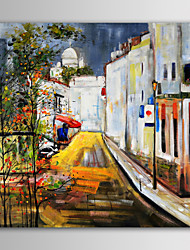 iarts pintura a óleo moderna estrada beco paisagem construção europeia mão telas pintadas com quadro esticado