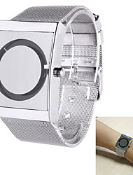 cheap -Men's Quartz Wrist Watch Casual Watch Stainless Steel Band Unique Creative Watch Elegant Silver