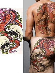 baratos -1 pcs Tatuagem Adesiva Tatuagens temporárias Séries Animal / Série dos desenhos animados Amiga-do-Ambiente / Alta qualidade, livre de formaldeído Arte para o Corpo Corpo / ombro / de volta