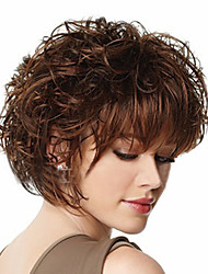 cheap -Synthetic Wig Brown Women's Carnival Wig Halloween Wig Costume Wig Short Synthetic Hair