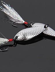 """4 pcs Poissons nageur/Leurre dur Leurre forme de cuillère leurres de pêche Poissons nageur/Leurre dur Cuillères Or Argent g/Once mm/1-5/8"""""""