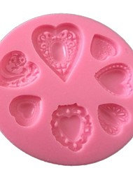 cheap -Heart Love Cake Mold Silicone Baking Tools