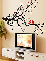 cheap -Environmental Removable Love Bird PVC Bedroom/Livingroom Wall Sticker