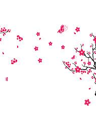 murali Stickers adesivi murali, wall stickers stile fiori di pesco in pvc