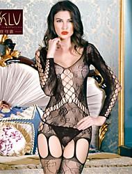 Women Nylon/Spandex Garters & Suspenders/Lace Backless Lingerie/Ultra Sexy Nightwear