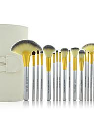 Make-up For You® 18pcs Makeup Brushes set  Limits bacteria/Professional  Beige Blush/shadow/Lip/Lash/Liner/Powder/Concealer/Foundation Brush  Tool
