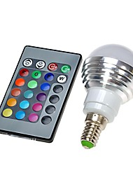 cheap -E14 LED Globe Bulbs 300lm RGB K Remote-Controlled AC 100-240V
