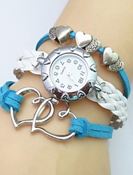 cheap -Fashion Handmade Women's Watch Love Heart Leather Weave Band Cool Watches Unique Watches